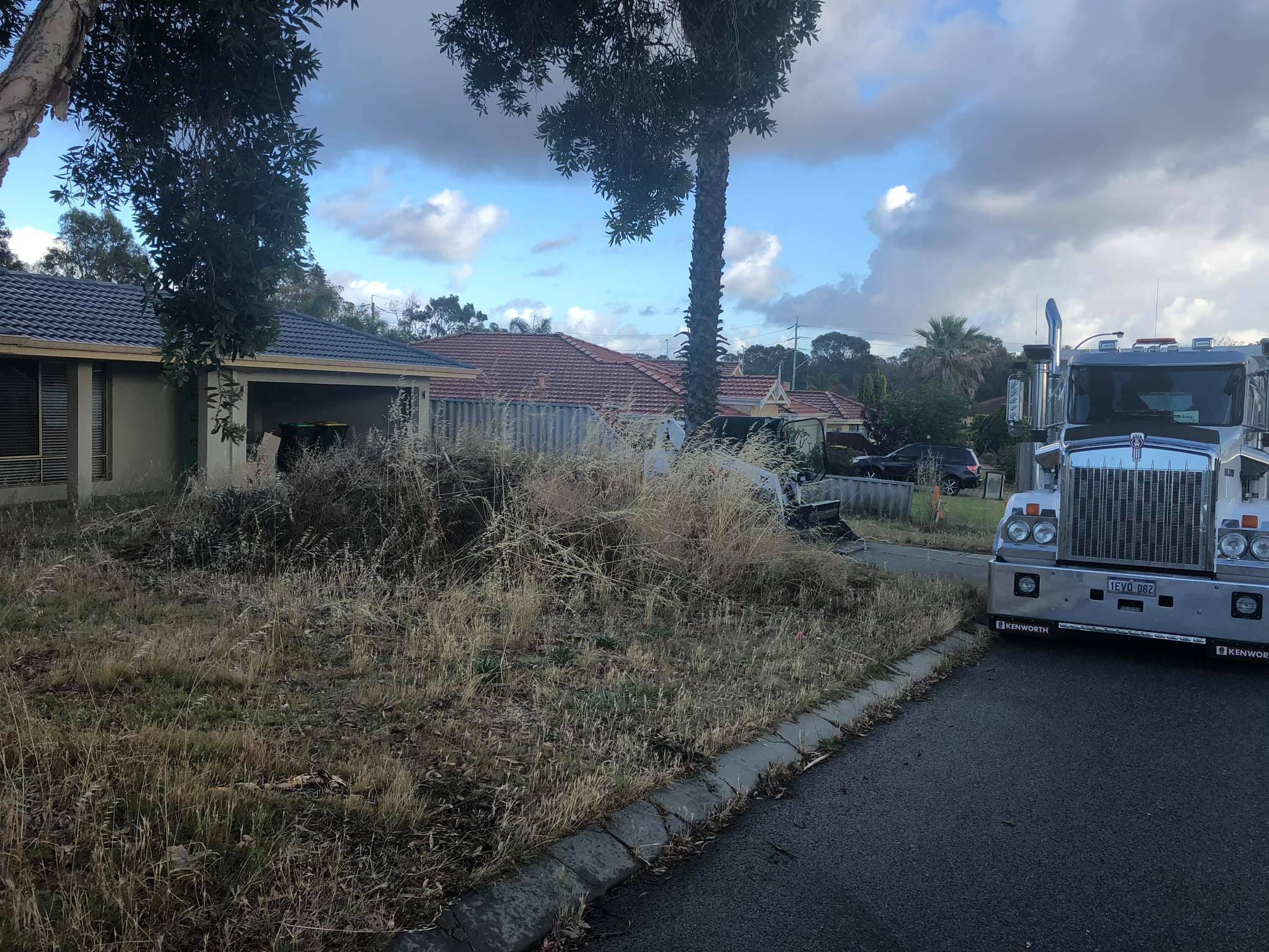 j & s truck and bobcat perth site clearing project