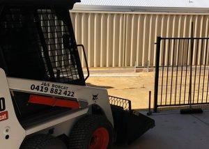 J & S Truck and Bobcat mini bobcat landscaping backyard