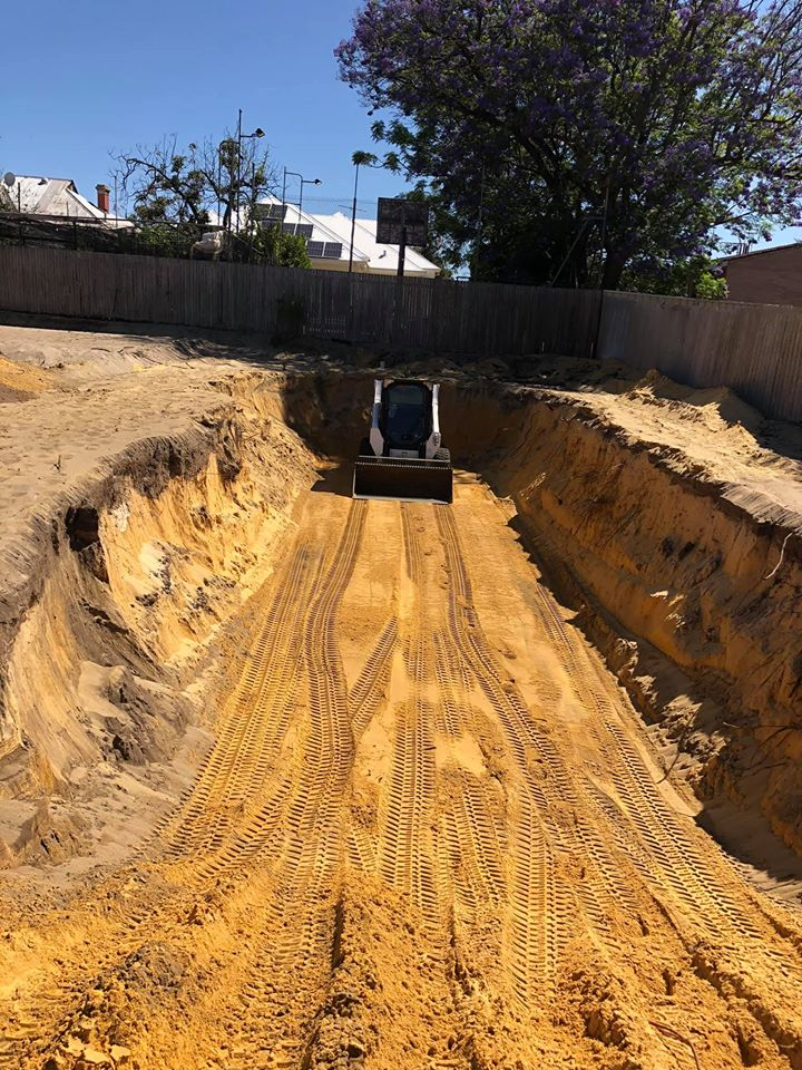 excavate pool area ready for installation bobcat perth